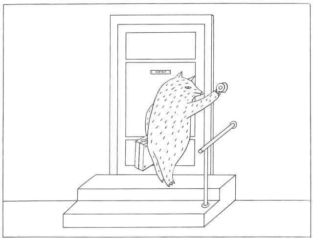 בישופס - דוב בדלת