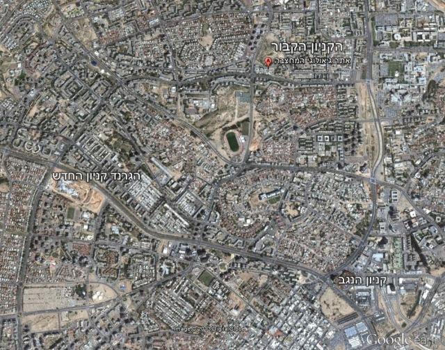 מפת הקניונים בבאר שבע